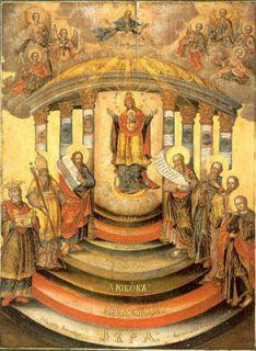Икона XVI века «Притча охромце ислепце». Увеличить